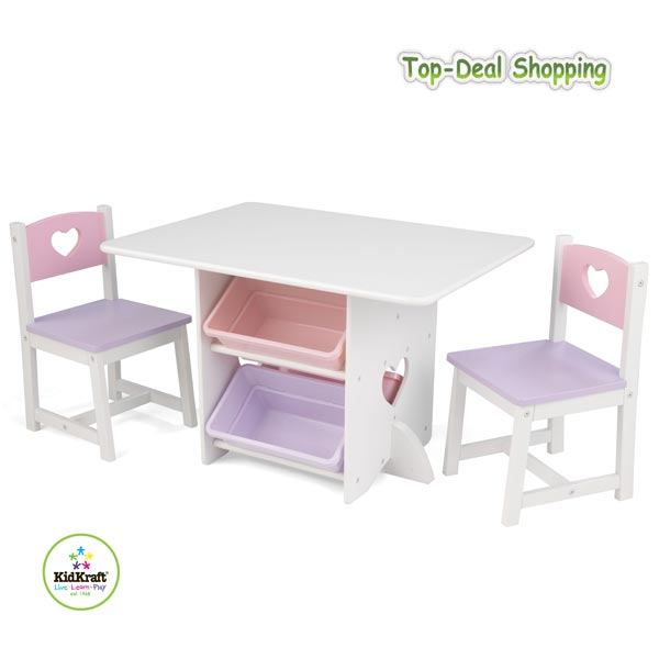 kidkraft tisch und stuhl set herzchen kidkraft 26913 sitzgruppe f r kinder ebay. Black Bedroom Furniture Sets. Home Design Ideas
